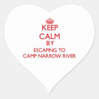 Keep calm by escaping to Camp Narrow River Rhode I Sticker