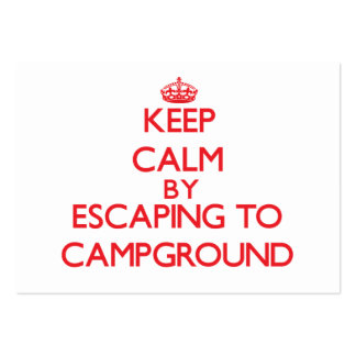 Keep calm by escaping to Campground Massachusetts Business Card