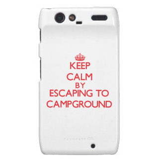 Keep calm by escaping to Campground Massachusetts Motorola Droid RAZR Case