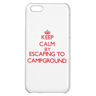 Keep calm by escaping to Campground Massachusetts iPhone 5C Cases