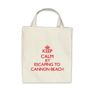 Keep calm by escaping to Cannon Beach Oregon Canvas Bags