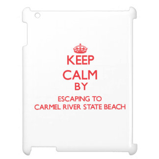 Keep calm by escaping to Carmel River State Beach Case For The iPad 2 3 4