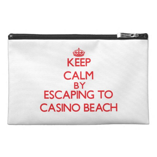 Keep calm by escaping to Casino Beach Florida Travel Accessories Bags