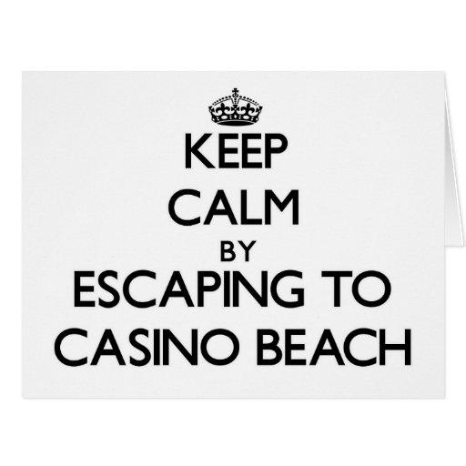 Keep calm by escaping to Casino Beach Florida Card