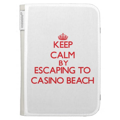 Keep calm by escaping to Casino Beach Florida Kindle 3G Case