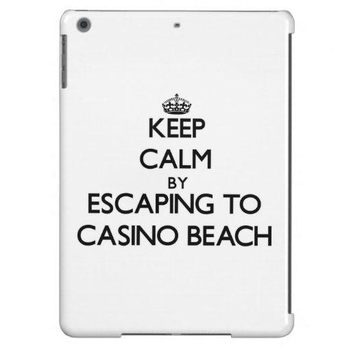 Keep calm by escaping to Casino Beach Florida iPad Air Covers