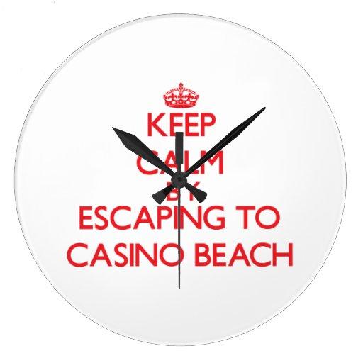 Keep calm by escaping to Casino Beach Florida Clocks