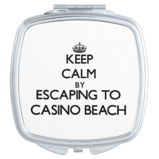 Keep calm by escaping to Casino Beach Florida Mirror For Makeup