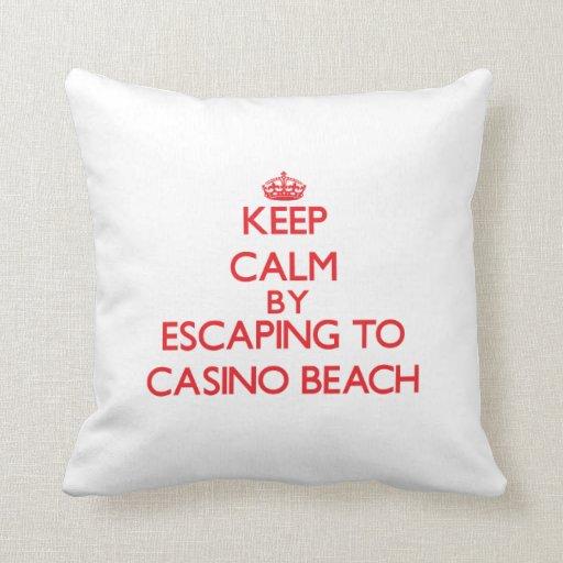 Keep calm by escaping to Casino Beach Florida Pillow