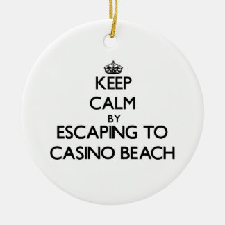 Keep calm by escaping to Casino Beach Florida Christmas Tree Ornaments