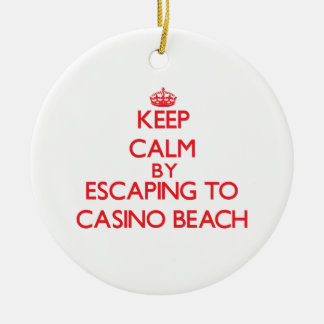 Keep calm by escaping to Casino Beach Florida Christmas Tree Ornament
