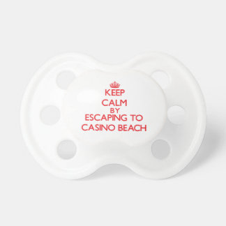 Keep calm by escaping to Casino Beach Florida Baby Pacifier
