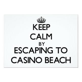"Keep calm by escaping to Casino Beach Florida 5"" X 7"" Invitation Card"