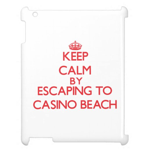 Keep calm by escaping to Casino Beach Florida iPad Covers