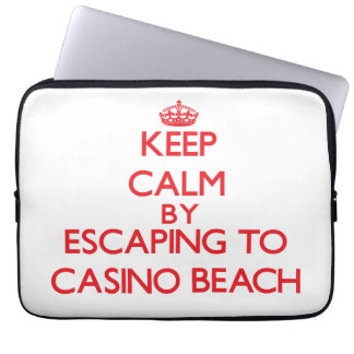 Keep calm by escaping to Casino Beach Florida Computer Sleeve