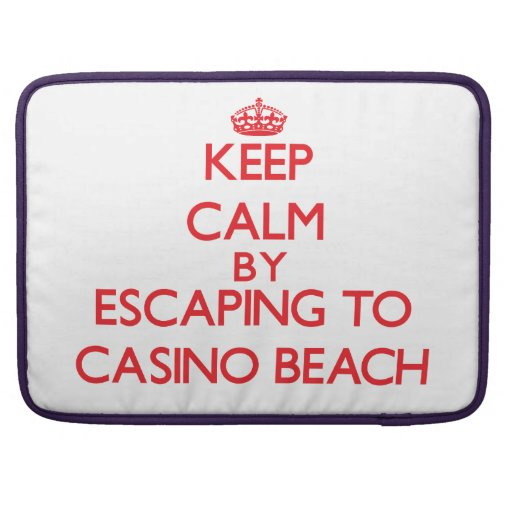 Keep calm by escaping to Casino Beach Florida Sleeve For MacBook Pro