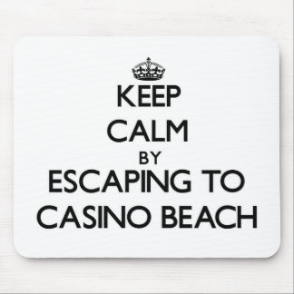 Keep calm by escaping to Casino Beach Florida Mousepads