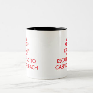 Keep calm by escaping to Casino Beach Florida Two-Tone Coffee Mug
