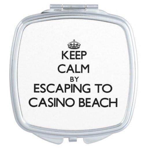 Keep calm by escaping to Casino Beach Florida Mirror For Makeup