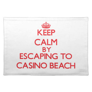 Keep calm by escaping to Casino Beach Florida Place Mat
