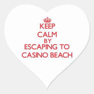 Keep calm by escaping to Casino Beach Florida Sticker