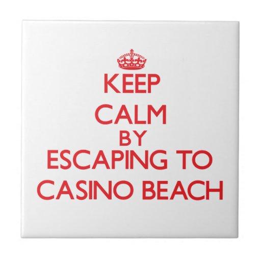 Keep calm by escaping to Casino Beach Florida Tile