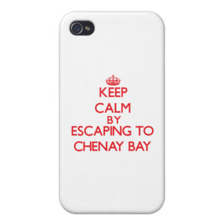 Keep calm by escaping to Chenay Bay Virgin Islands iPhone 4 Cases