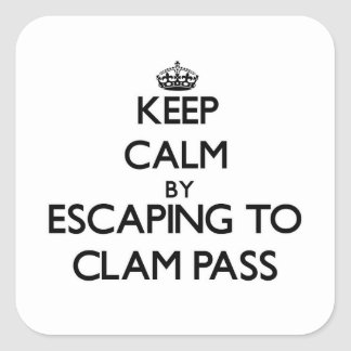 Keep calm by escaping to Clam Pass Florida Square Sticker