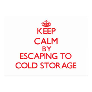 Keep calm by escaping to Cold Storage Massachusett Business Card