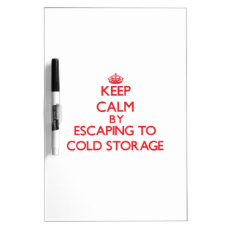 Keep calm by escaping to Cold Storage Massachusett Dry-Erase Boards