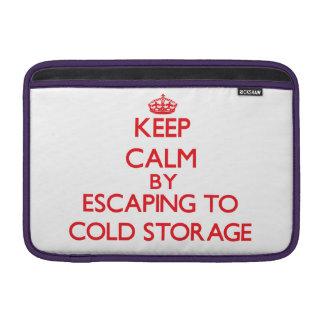 Keep calm by escaping to Cold Storage Massachusett Sleeves For MacBook Air