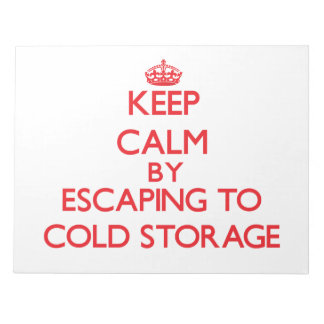Keep calm by escaping to Cold Storage Massachusett Scratch Pads