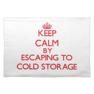 Keep calm by escaping to Cold Storage Massachusett Placemat
