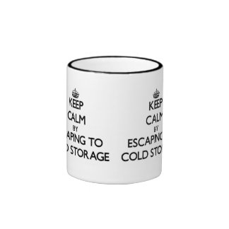 Keep calm by escaping to Cold Storage Massachusett Ringer Mug