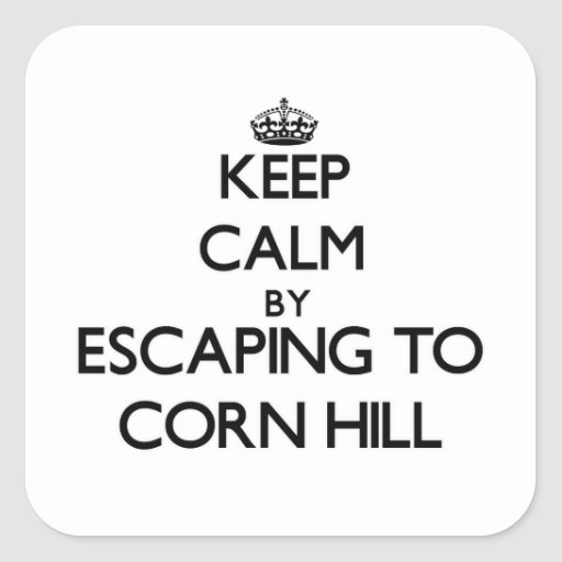 Keep calm by escaping to Corn Hill Massachusetts Sticker