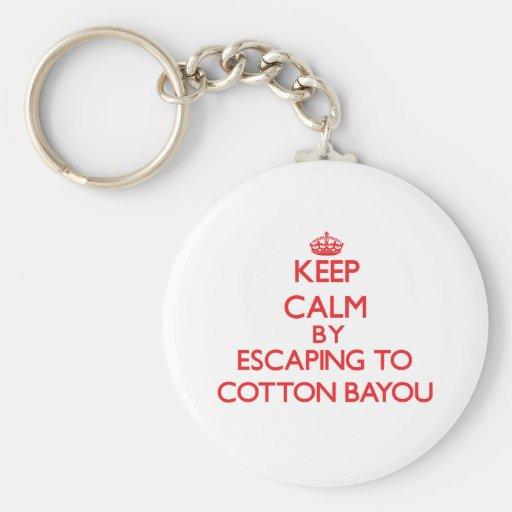 Keep calm by escaping to Cotton Bayou Alabama Keychain