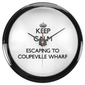 Keep calm by escaping to Coupeville Wharf Washingt Fish Tank Clocks