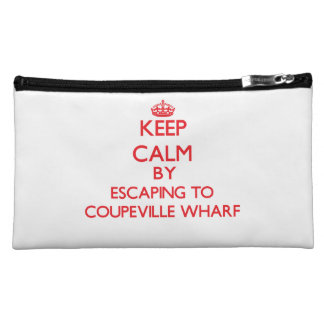 Keep calm by escaping to Coupeville Wharf Washingt Makeup Bags
