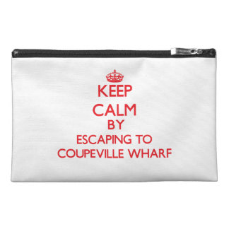 Keep calm by escaping to Coupeville Wharf Washingt Travel Accessories Bags