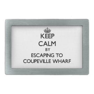 Keep calm by escaping to Coupeville Wharf Washingt Belt Buckles