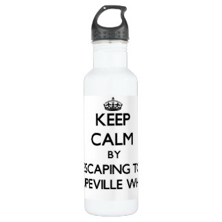 Keep calm by escaping to Coupeville Wharf Washingt 710 Ml Water Bottle