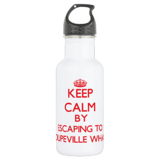 Keep calm by escaping to Coupeville Wharf Washingt 18oz Water Bottle