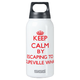 Keep calm by escaping to Coupeville Wharf Washingt 10 Oz Insulated SIGG Thermos Water Bottle