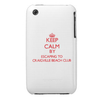 Keep calm by escaping to Craigville Beach Club Mas Case-Mate iPhone 3 Case