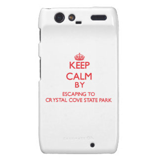 Keep calm by escaping to Crystal Cove State Park C Droid RAZR Covers
