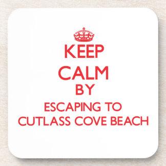 Keep calm by escaping to Cutlass Cove Beach Florid Coaster