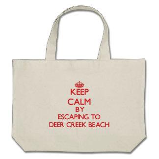 Keep calm by escaping to Deer Creek Beach Californ Tote Bags