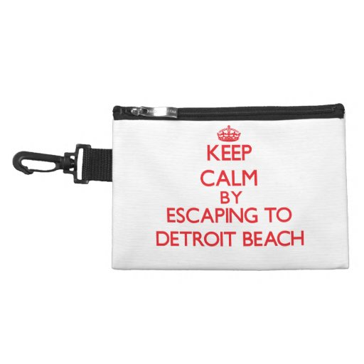 Keep calm by escaping to Detroit Beach Michigan Accessory Bag