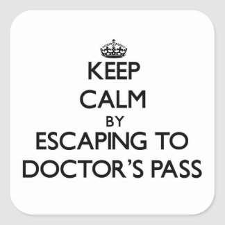 Keep calm by escaping to Doctor S Pass Florida Stickers