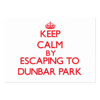 Keep calm by escaping to Dunbar Park Michigan Pack Of Chubby Business Cards